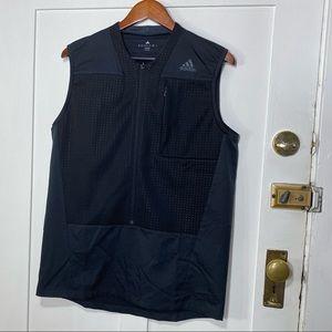 Adidas Black Training Climalite Tokyo Designed Partial Zip Vest